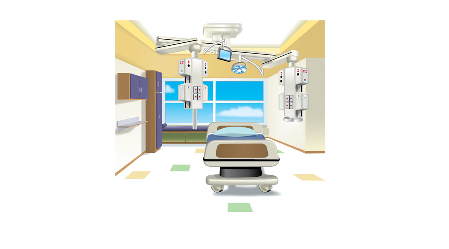 Patient Room Illustration